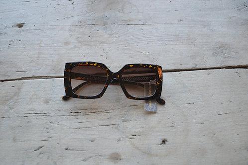 Eliza Gracious Tortoiseshell Square Statement Sunglasses