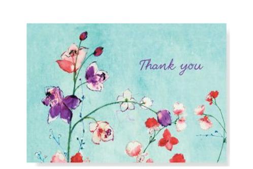 Fuchsia Blooms Thank You Notes