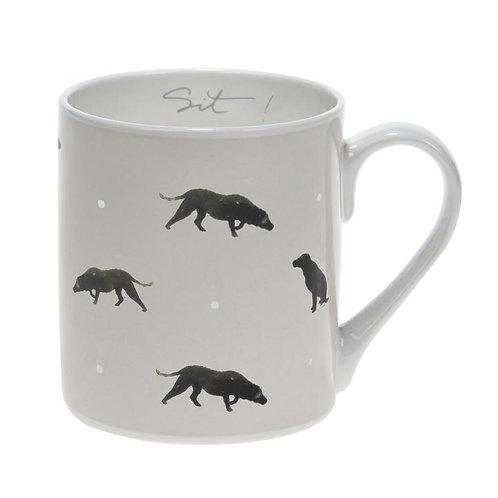 Sit Labrador Coloured Mug