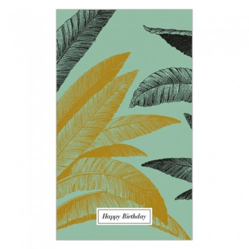 Happy Birthday Leaves Hanging Card