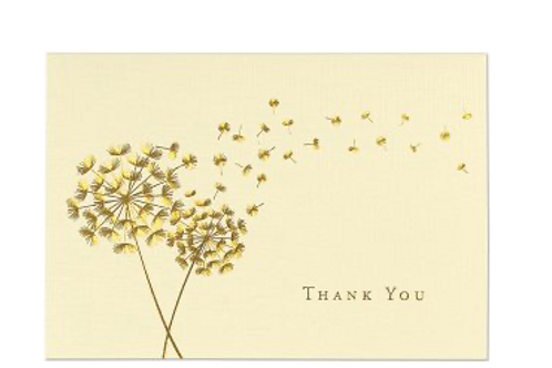 Dandelion Wishes Thank You Notes