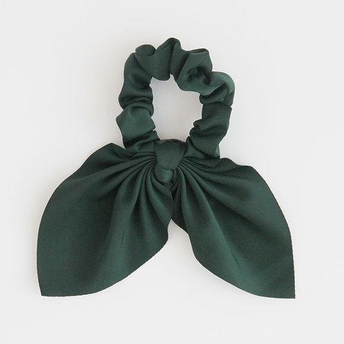 Green Bow Hair Tie