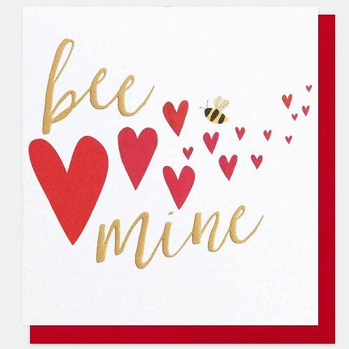 Bee Mine Foiled Love Card