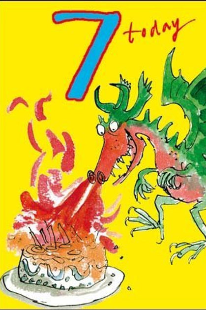 7 Quentin Blake Dragon Birthday Card