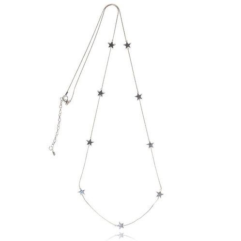 Aura Metal Star Long Necklace
