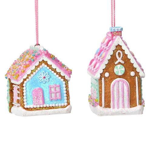 Pastel 3D Gingerbread House Decoration