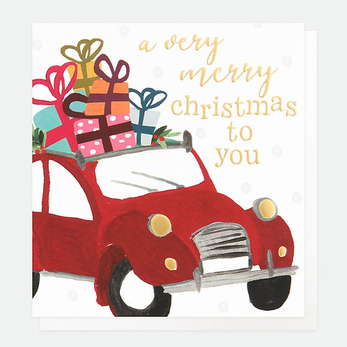 Painted Christmas Car Charity Pack of 8