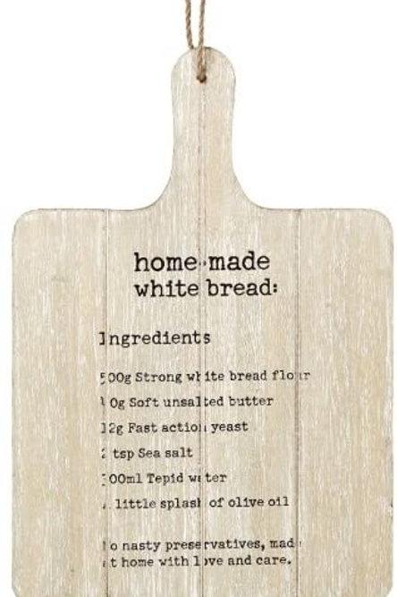 Hanging Wooden White Bread Board