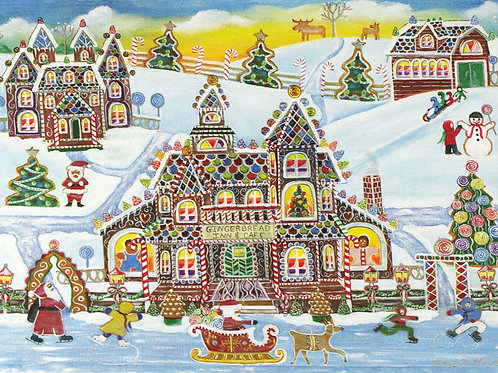 Gingerbread Village Deluxe Boxed Cards