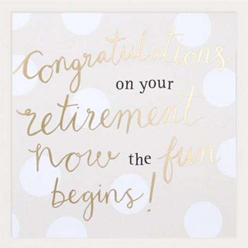 Congratulations On Your Retirement Grande card