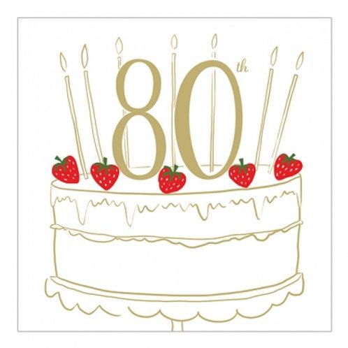 80 Birthday Cake