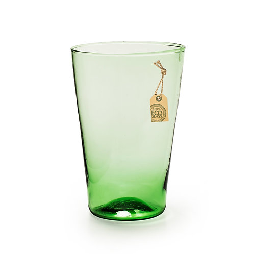 Casa Verde Set of Two Eco Conical Vase Green