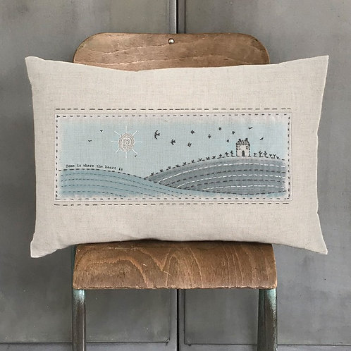 Home is where the Heart Is Embroidered Cushion
