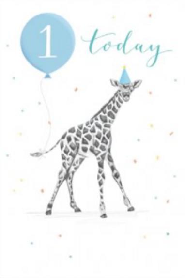 1 Best Day Ever Blue Birthday Card