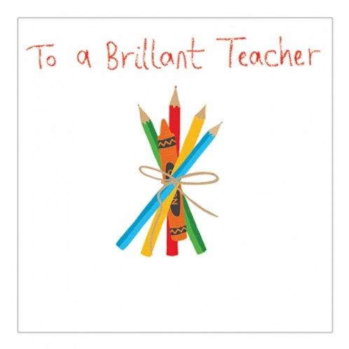 To A Brilliant Teacher