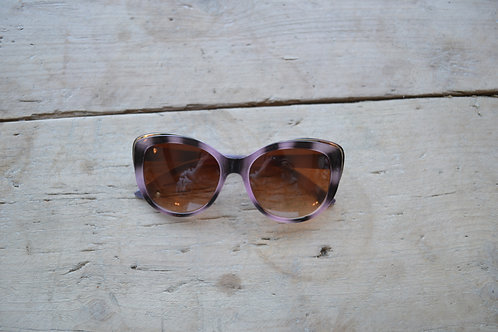 Eliza Gracious Purple Tortoiseshell Butterfly Sunglasses