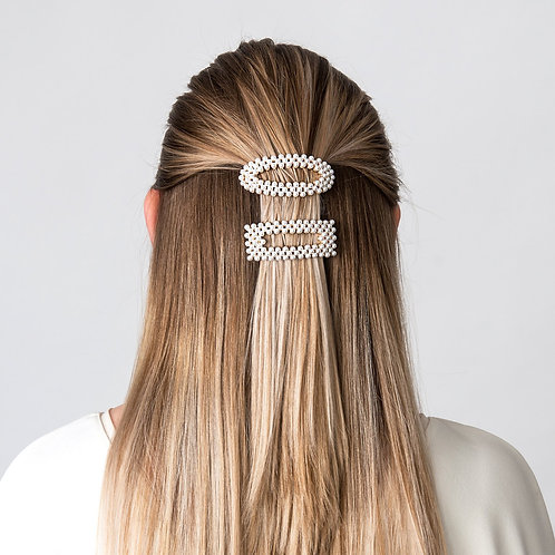 Ponytail Clip Pearl Oval