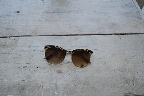 Eliza Gracious Gold Clubmaster Sunglasses