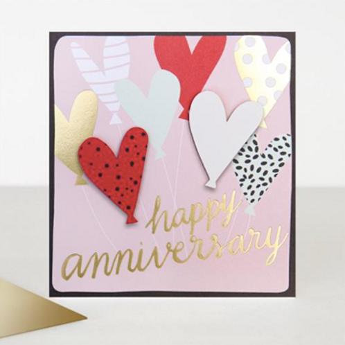 Cine Heart Balloons Happy Anniversary