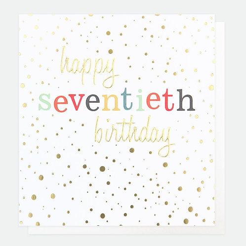 Seventieth Birthday
