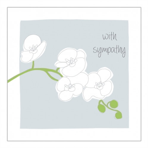 With Sympathy Orchid