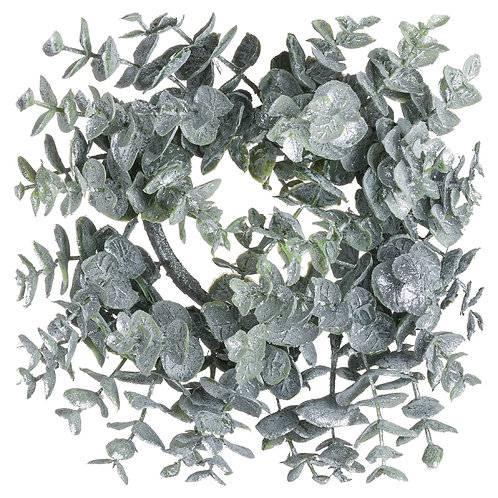 Small Frosted Eucalyptus Candle Wreath