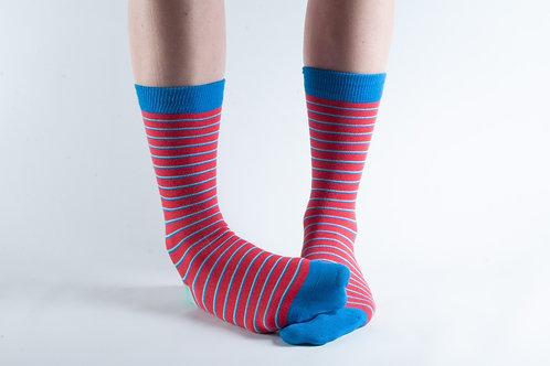 Red Stripe Bamboo Socks