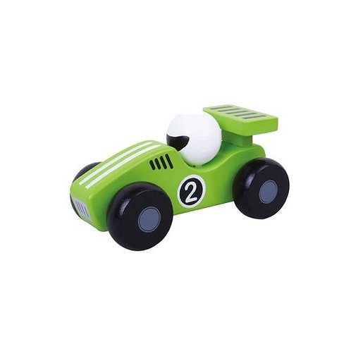 Green Wooden Racing Car