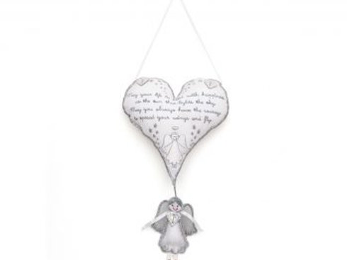Angel 'Life Blessing' Heart – Room Decoration