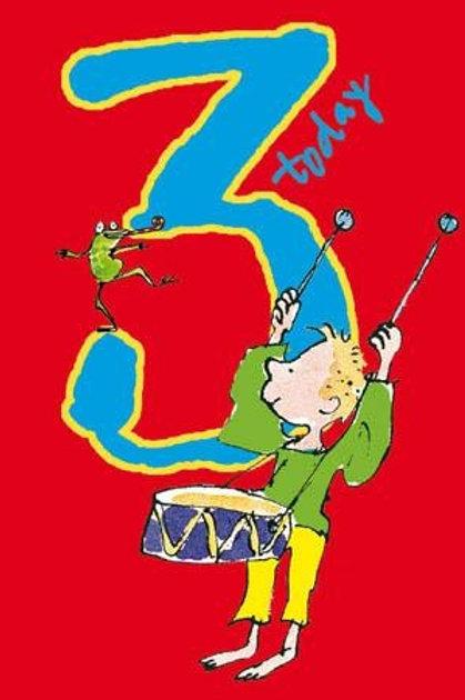 3 Quentin Blake Drummer Boy Birthday Card
