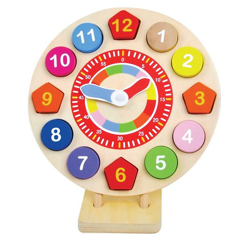 Wooden Teach the Time Wooden Clock - Jumini