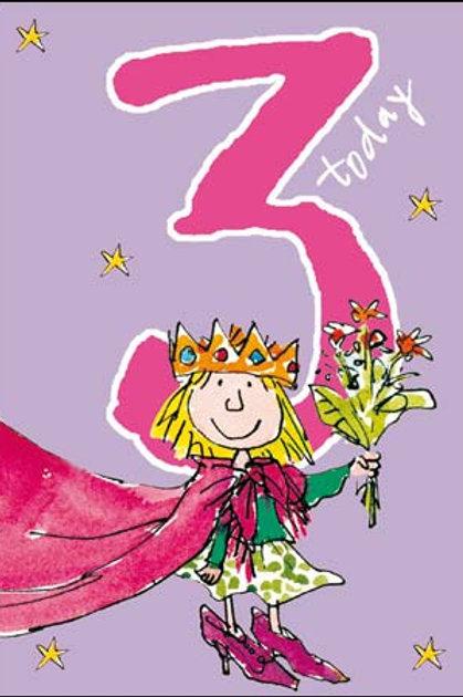 3 Quentin Blake Little Princess Birthday Card