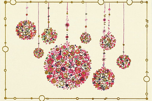 Multicoloured Ornaments Card Pack