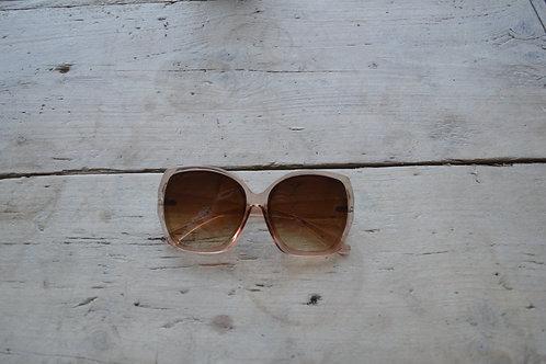 Eliza Gracious Clear Pink Oval Rectangular Sunglasses