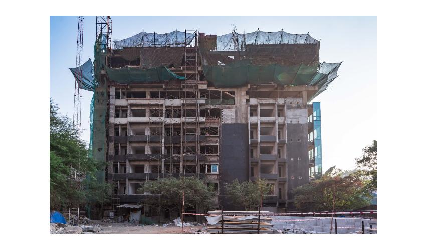 Block Work3 (December 2019)  Elevation B, Façade work is in Progress