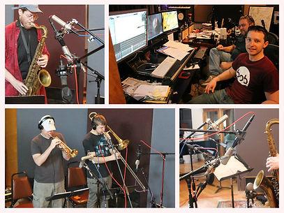 Chris Alpiar provides sax, trumpet, trombone and more from his studio in Atlanta