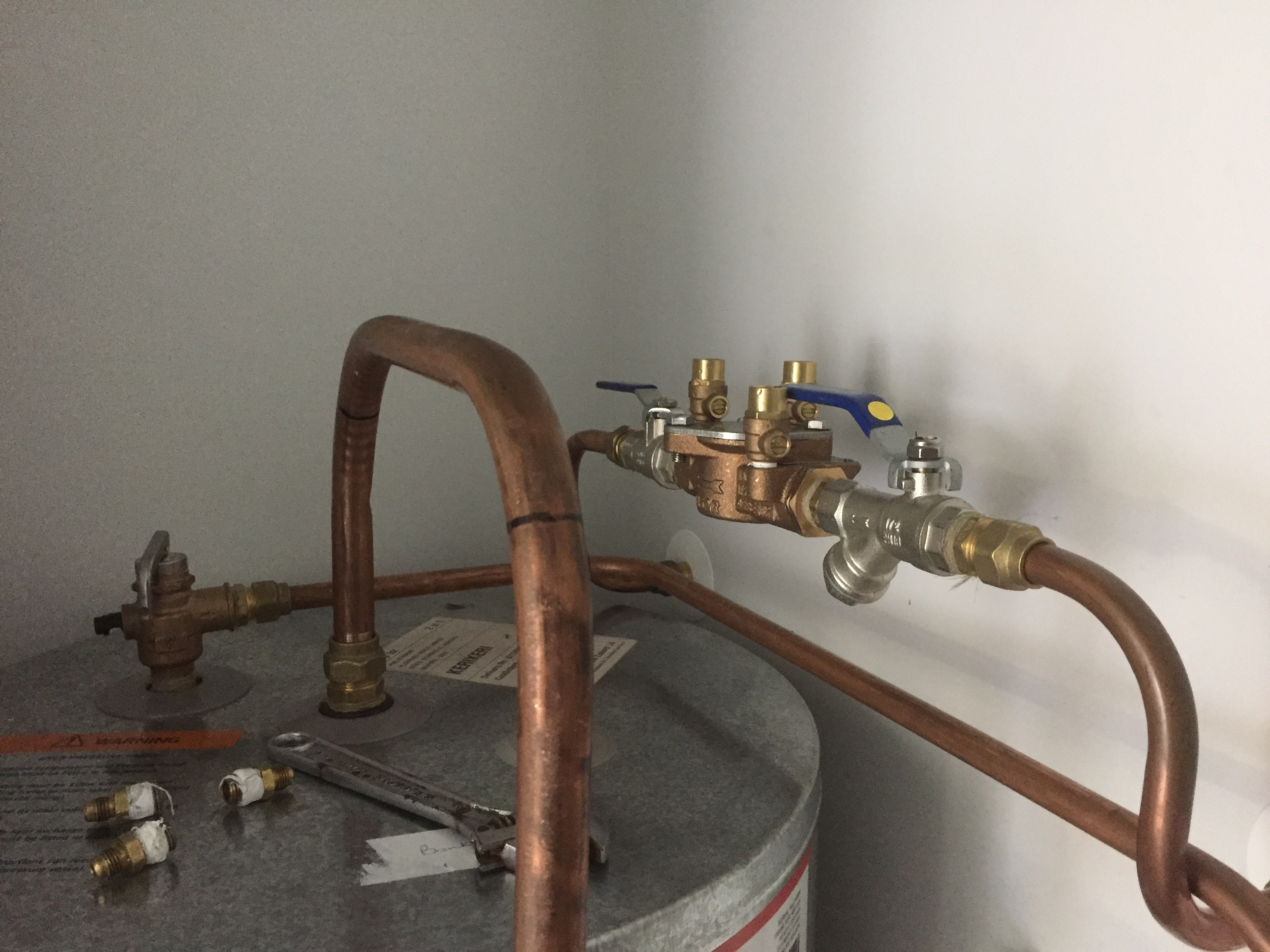 Location of DC Backflow device