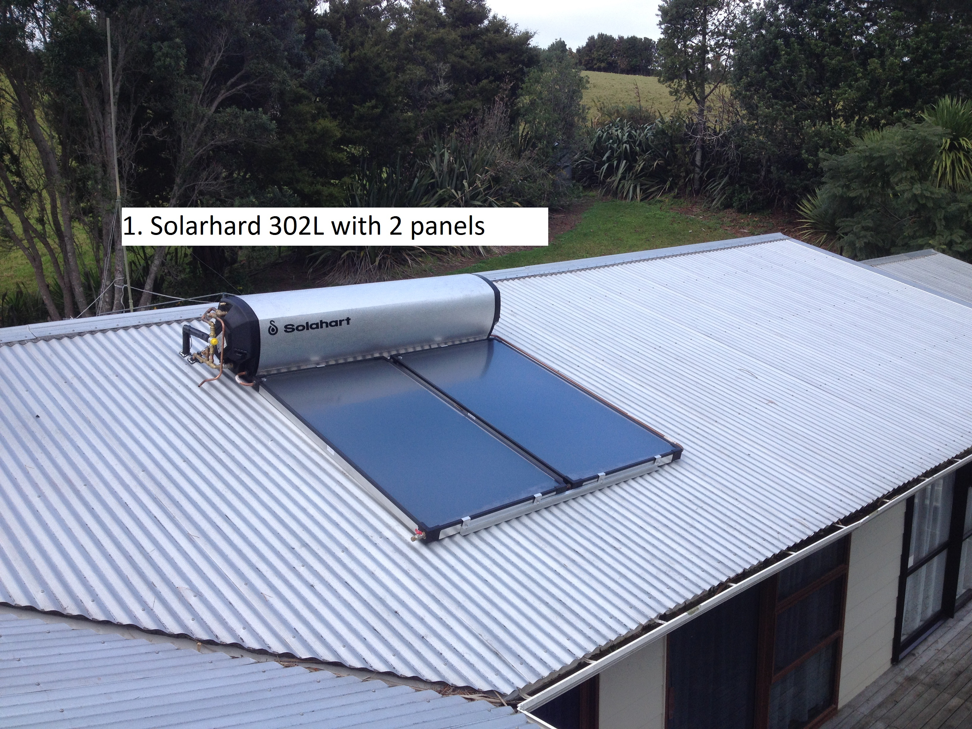 Solahart 302L CSC 2.4kw system with 5