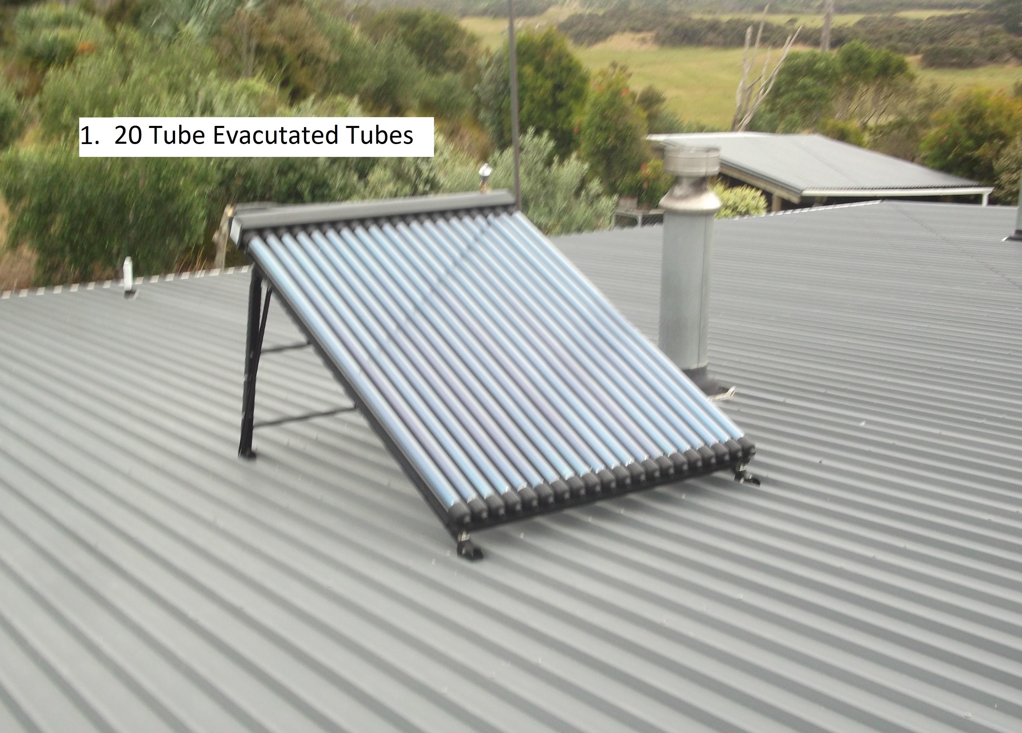 20 tube evacuated tubes installed 29.11.