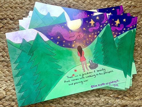 Facing fears postcard