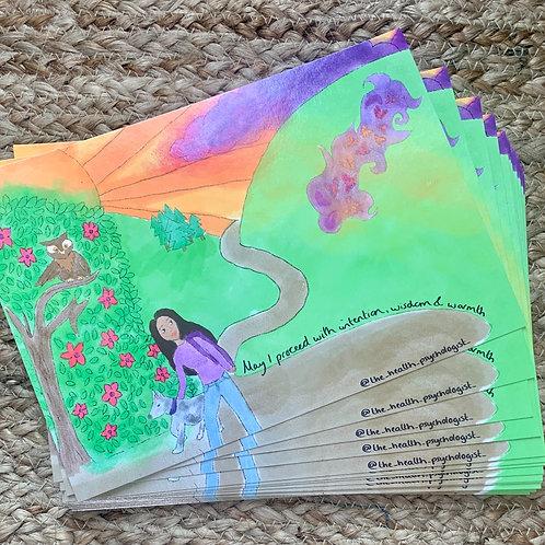 Setting intentions postcard