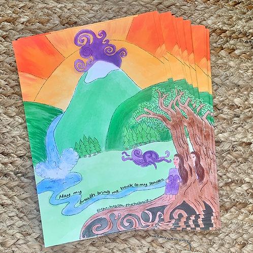 Breath and body postcard