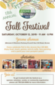 JGH BID 2019 fall festival flyer