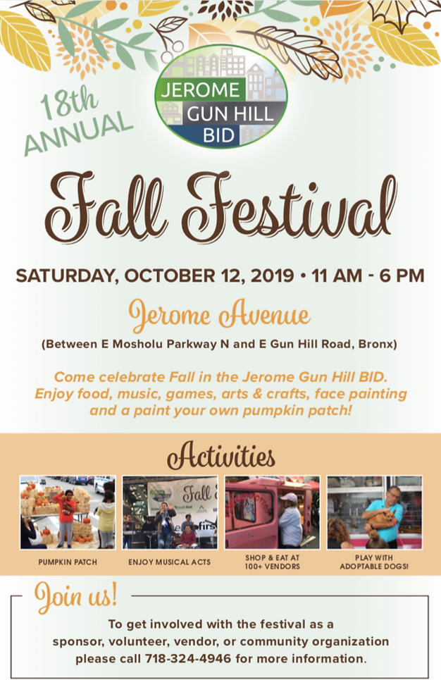JGH BID 2019 fall festival flyer