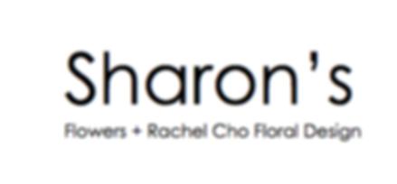 sharon's flowers + rachel cho floral desgn logo