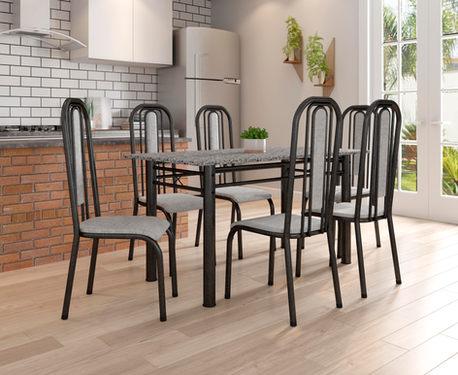 Conjunto Madri 1,50 com 6 Cadeiras Granada