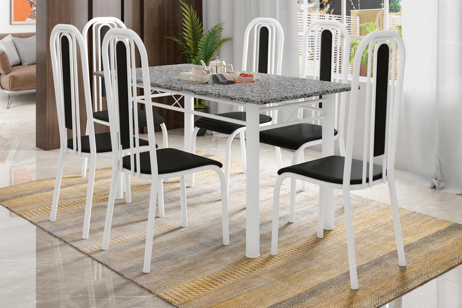 Conjunto Madri de 6 cadeiras