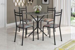 Conjunto Floripa 0,70 + 4 Cadeiras Lyon