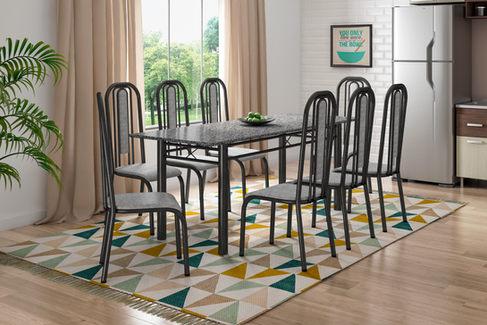Conjunto Madri 2,00 com 8 Cadeiras Granada
