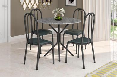 Conjunto Floripa 0,80 + 4 Cadeiras Madri